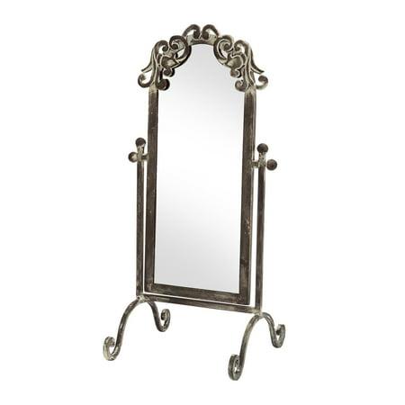 Nickel Swivel Mirror (17.75