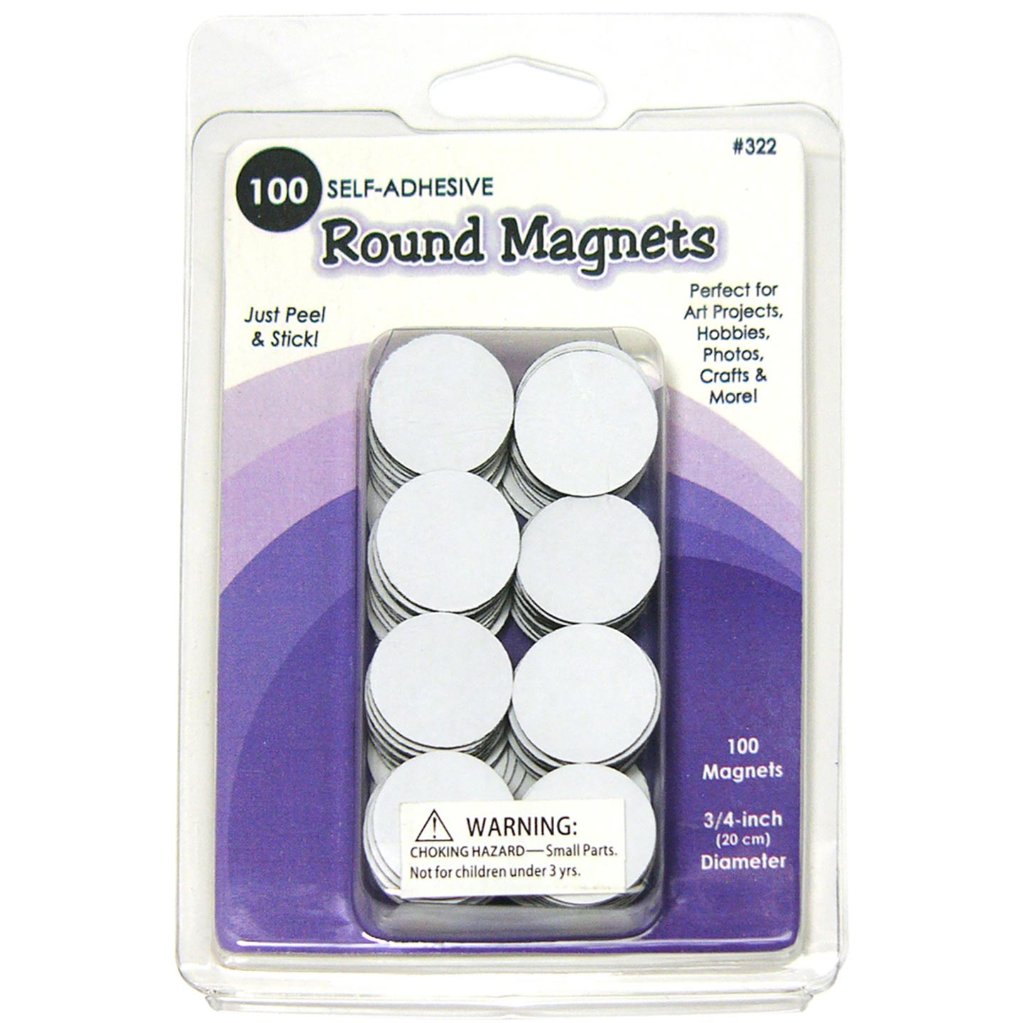 Qulling Magents Self Adhesive Round .75In Dia 100Pk