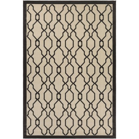 Couristan Five Seasons Byron Bay/Cream-Black Rug