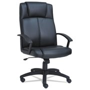 Alera CL4119 High-Back Leather Chair, Black