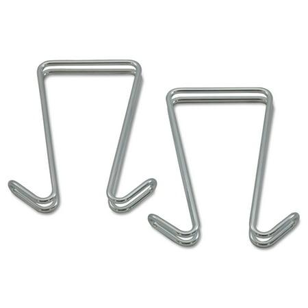 Alera Double Sided Partition Garment Hook, Silver, Steel, 2/PK