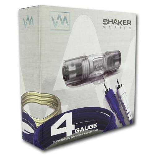 VM Audio 4-Gauge Car Audio Amplifier Installation Wiring Kit + RCA | SRSK4B