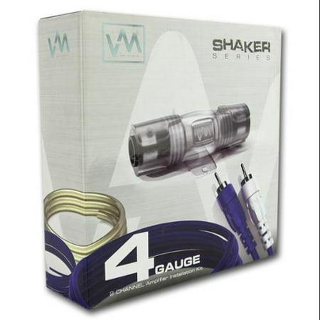 VM Audio 4-Gauge Car Audio Amplifier Installation Wiring Kit + RCA SRSK4B