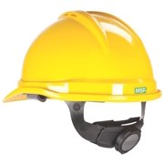 """5919311,SAFETY HATS,VENTED,BRIM CAP """"V-GARD 500"""",,4 Point """"FAS-TRAC"""" Suspension,Color=Yellow"""