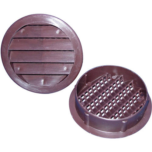 "3"" Round Maurice Franklin Plastic Louvered Vent"