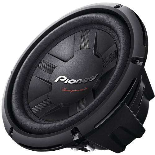 "Pioneer 10"" 1,200-Watt Champion Series Subwoofer #TS-W261S4, Single Voice Coil"