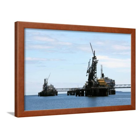 Oil and Gas Industry in the Firth of Forth, Scotland Framed Print Wall Art By Linda (Best Careers In Oil And Gas Industry)