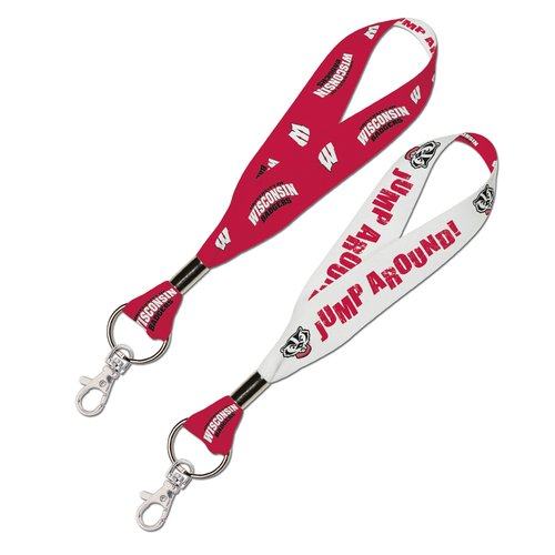 Wisconsin Badgers Official NCAA 8 inch  Lanyard Key Chain Keychain by Wincraft