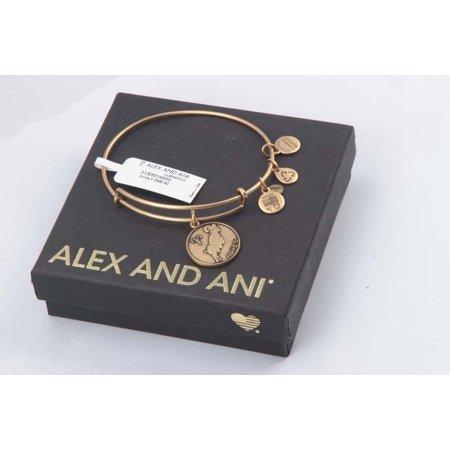 Alex And Ani Rafaelian Gold Finish Aries Ii Expandable Wire Bangle  A13eb01arrg