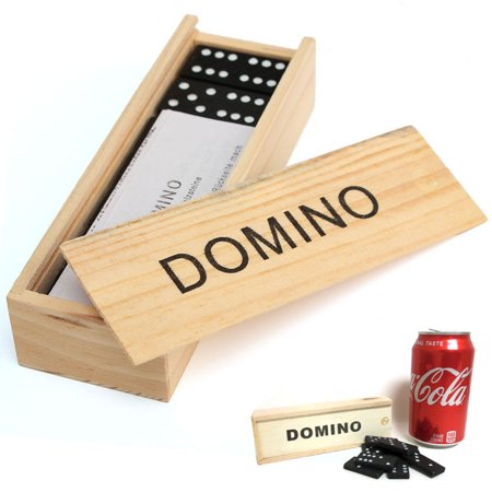 28 Pcs Domino Game Wooden Boxed Traditional Classic Blocks Play Set Toy Gift New - Halloween Games To Play In Pe