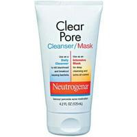 Neutrogena Clear Pore Cleanser/Mask 4.20 oz (Pack of 2)