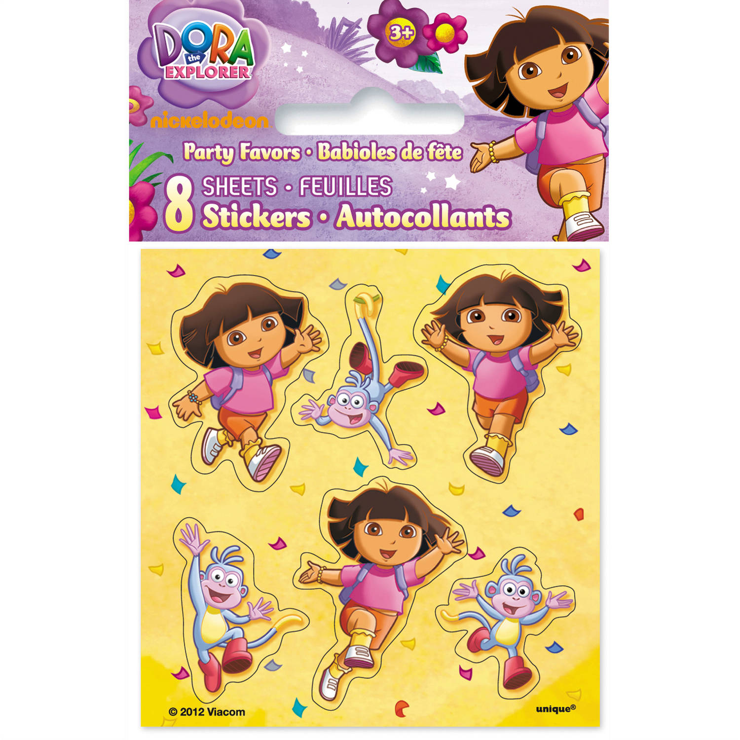 Dora the Explorer Sticker Sheets, 8-Count