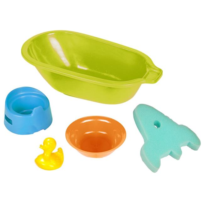 Bath Tub with Accessories, Set of 5