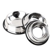 Non Slip Stainless Steel No tip Non SLIP Dog Puppies Feeding Bowl Pet Food Water Bowl Dish12/32/64oz Drink Water Bowl