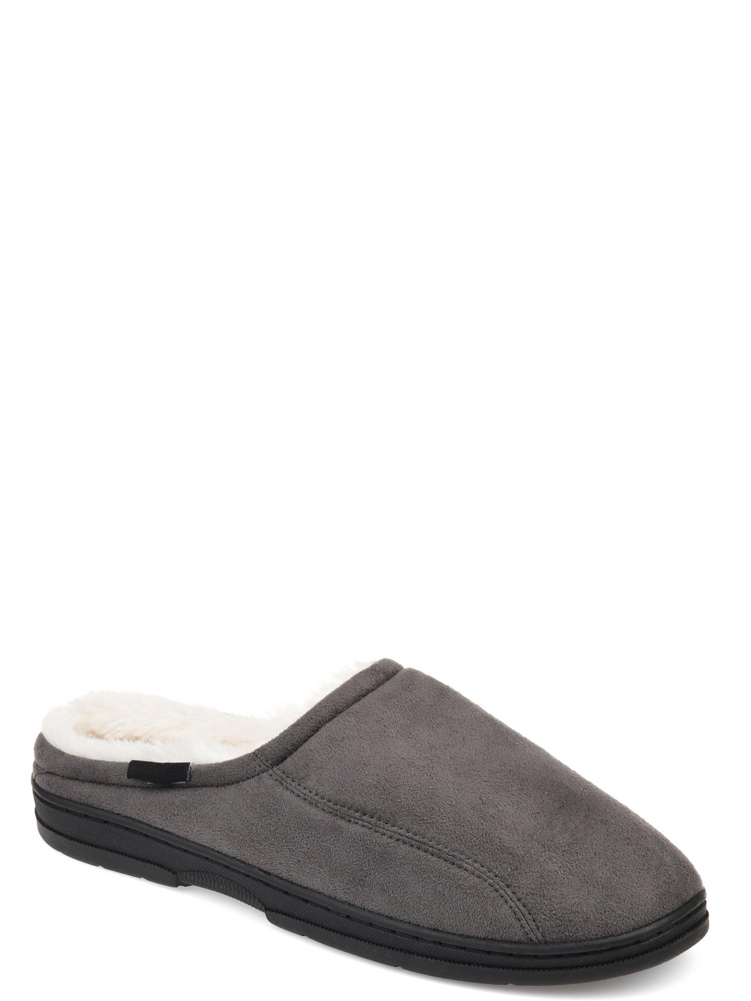 mens memory foam mule slippers