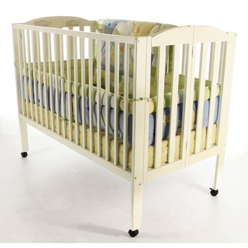 Dream On Me 2-in-1 Folding Full-Size Crib, White