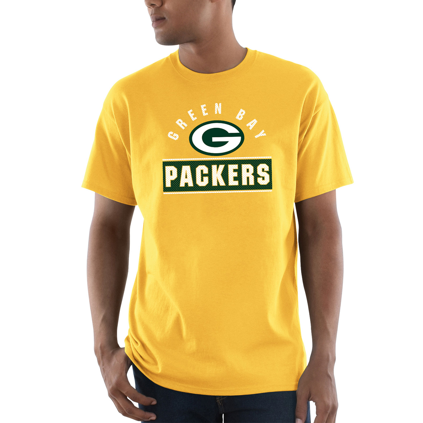 Green Bay Packers Majestic Maximized T-Shirt - Gold