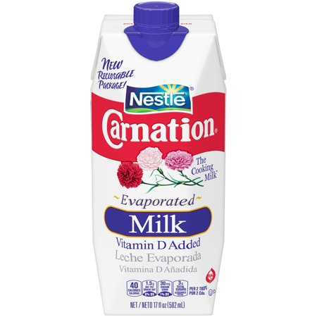 (3 Pack) CARNATION Vitamin D Added Evaporated Milk Substitute for Drinking Milk in Recipes, Evaporated Milk with Vitamin D Added, 17 fl