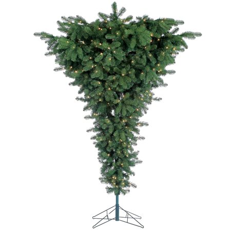 Sterling 7.5Ft Pre-Lit Upside Down Floor Tree with 600 clear lights ()