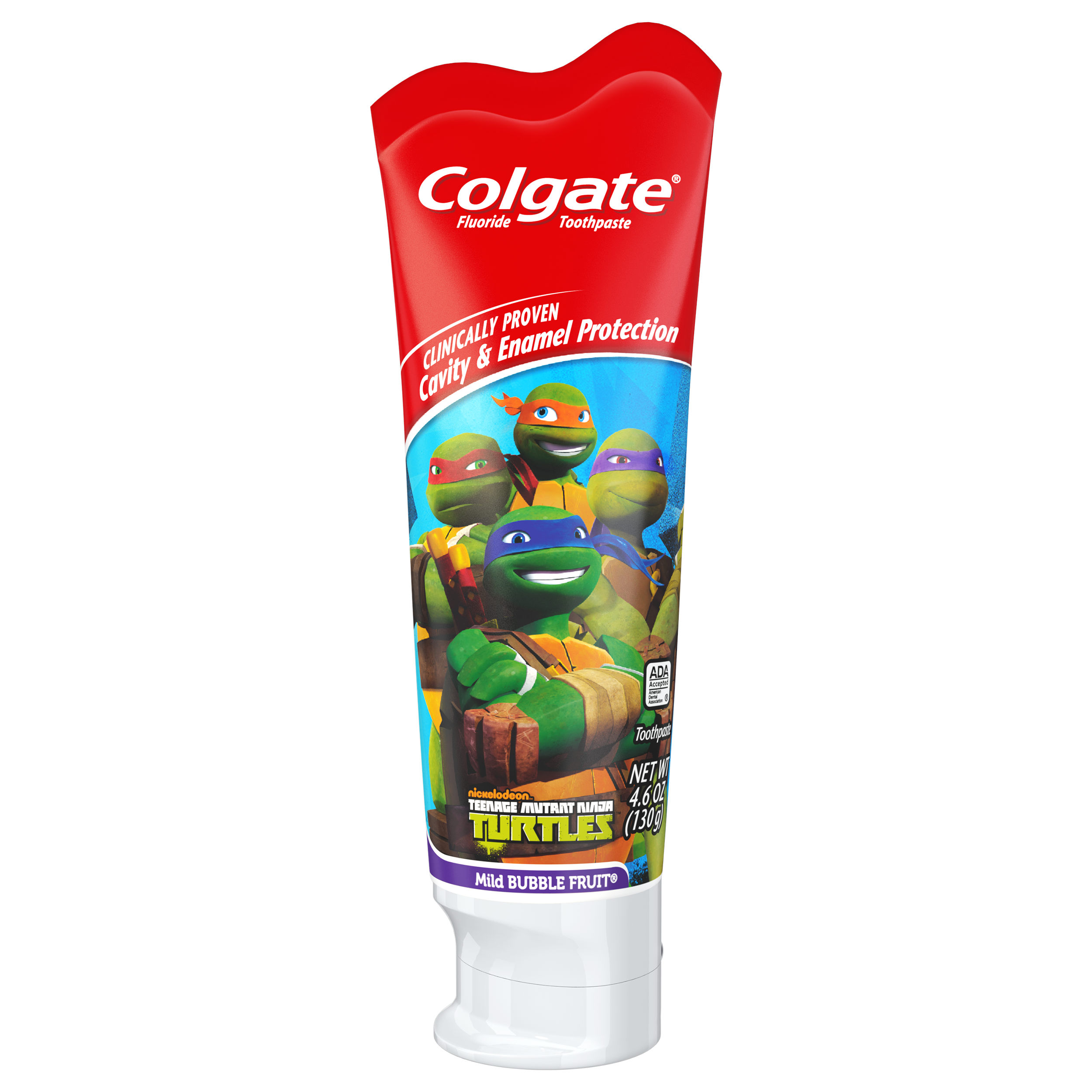 Colgate Kids Fluoride Toothpaste, Teenage Mutant Ninja Turtles - 4.6 ...