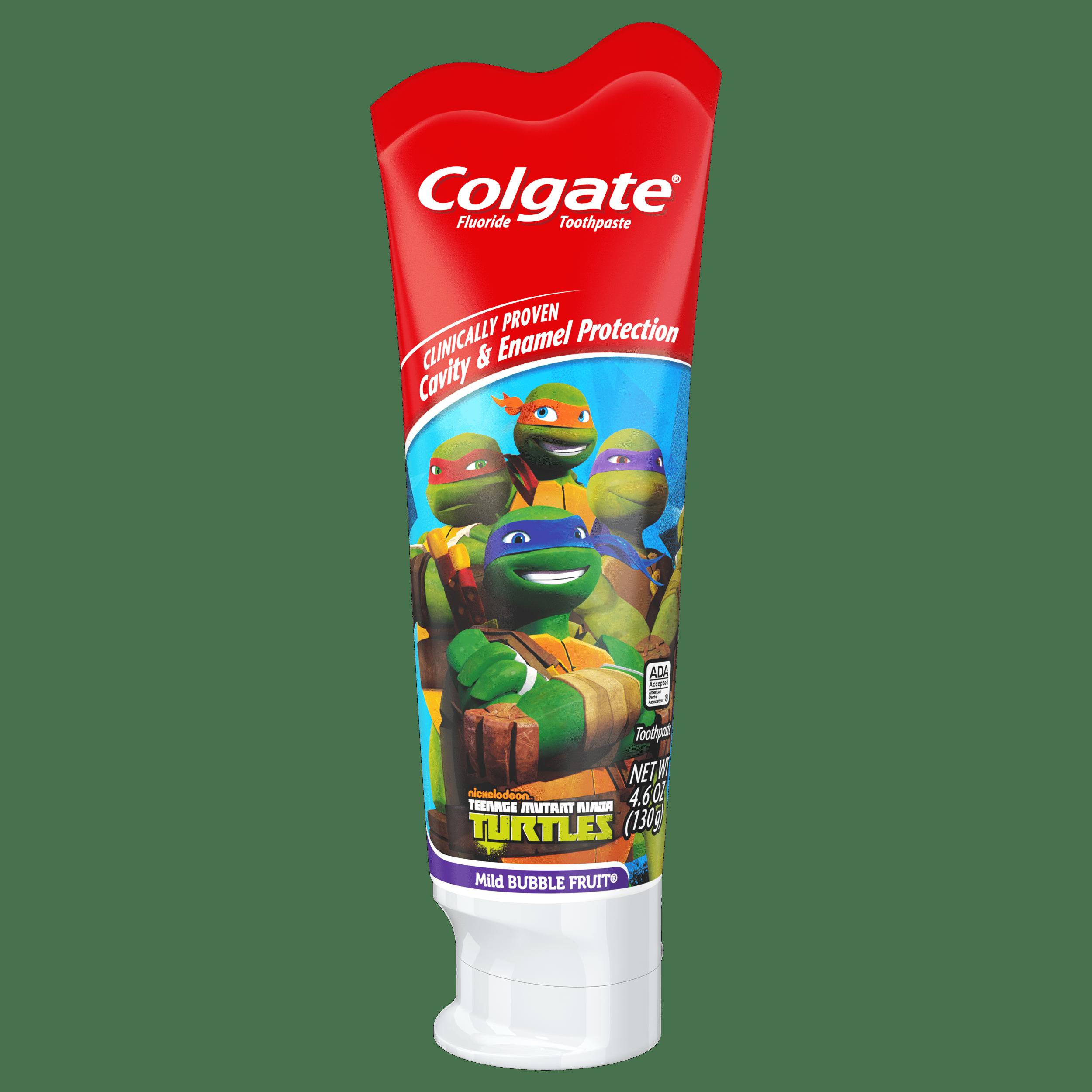 (2 pack) Colgate Kids Fluoride Toothpaste, Teenage Mutant Ninja Turtles - 4.6 oz