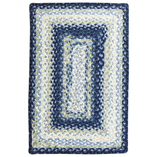 Homespice Cotton Braided Wedgewood Area Rug