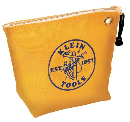 "KLEIN TOOLS Tool Bag,1 Pocket,10""x3-1/2""x8"",Yellow 5539YEL"