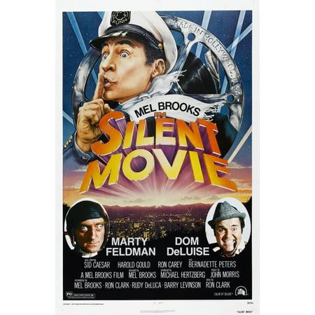 Silent Movie Us Poster Mel Brooks Marty Feldman Dom Deluise 1976 Movie Poster Masterprint