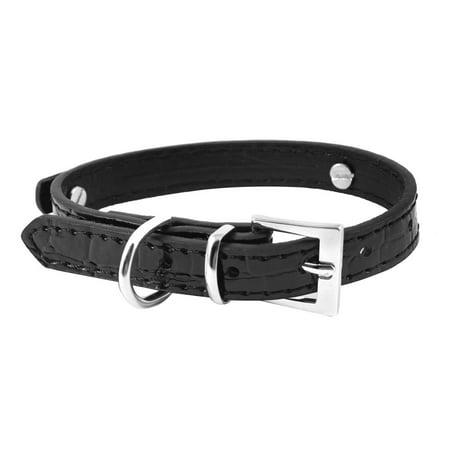 Dog Pet Collar Alligator Pattern Cat Fashion Accessory Single Pin Buckle (Alligator Dog Collar)