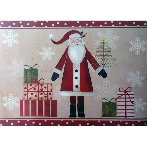 Carnation Home Fashions Saint Nick Expanded Placemat (Set of 4)