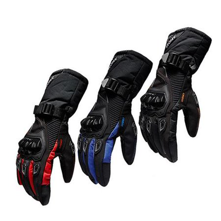 Winter Motorcycle Gloves Waterproof And Warm Four Seasons Riding Motorcycle Rider Anti-Fall Cross-Country Gloves (Skeleton Riding Gloves)