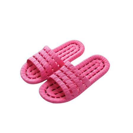 Funcee Casual Women Men Unisex Soft Bottom Home Slippers Non-slip Bathing Slippers Shoes - Plastic Glass Slippers