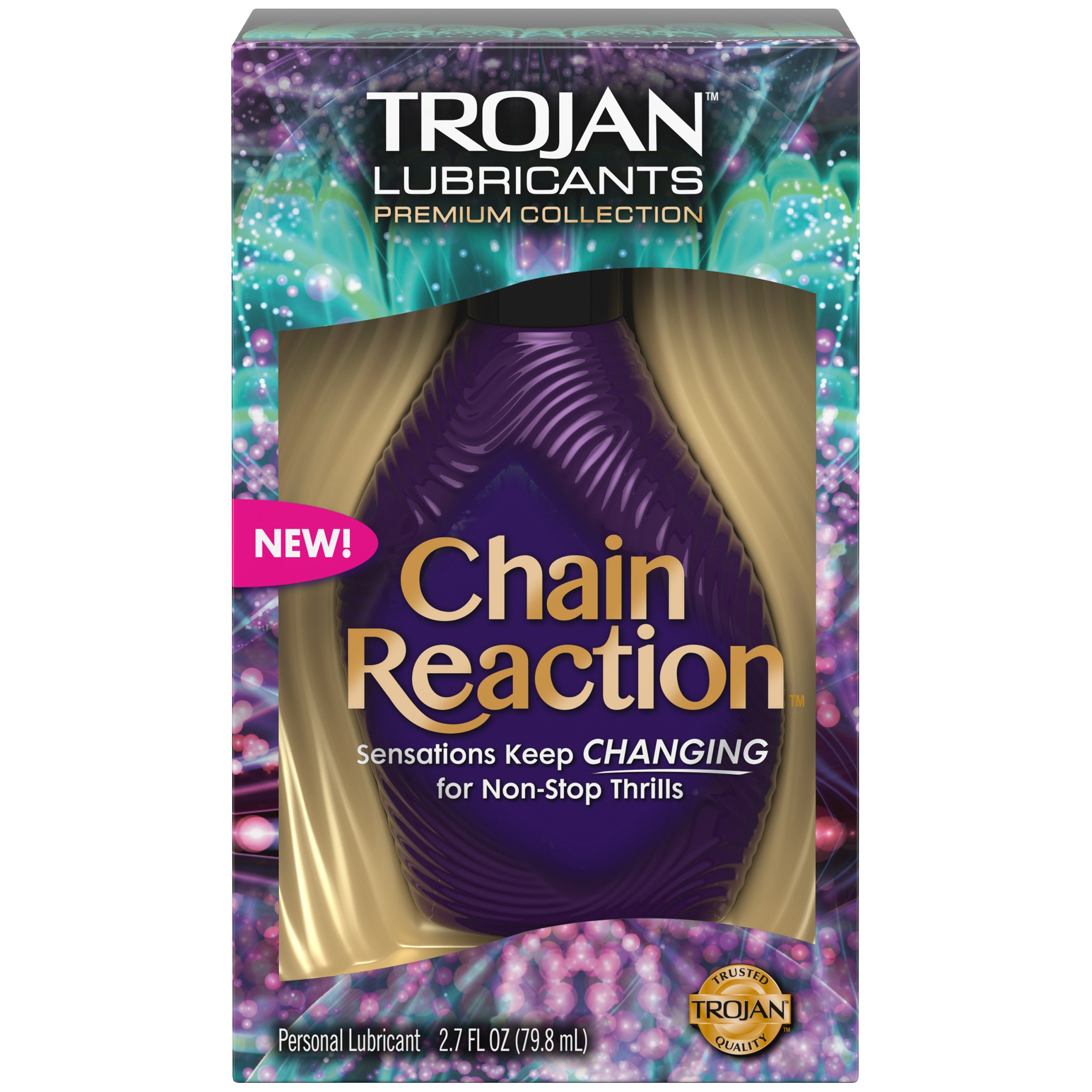 TROJAN Chain Reaction Personal Lubricant, 2.7 Fl Oz