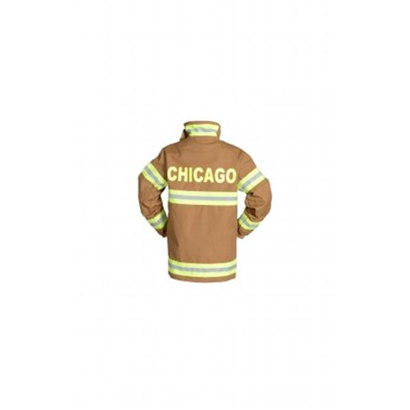 Aeromax FT-CHI-AD-LRG Adult Fire Fighter Chicago Suit Large - - Carnivale Chicago Halloween