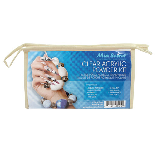 Mia Secret Clear Acrylic Powder Kit (KIT-01)