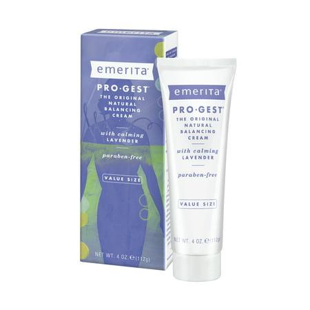 Emerita Pro-Gest Balancing Cream with Lavender | USP Progesterone Cream from Wild Yam for Optimal Balance at Midlife | 4 oz Pro Gest Progesterone Cream