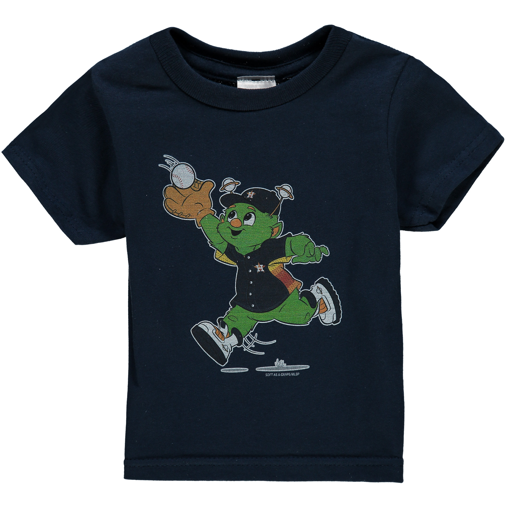 Houston Astros Soft as a Grape Toddler Distressed Mascot T-Shirt - Navy