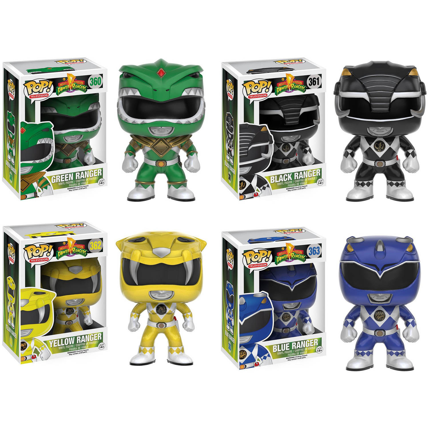 Funko Power Rangers: POP! TV Collector's Set, Green Ranger, Black Ranger, Yellow Ranger, Blue Ranger
