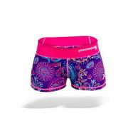 Stronger RX Pink & Purple Comp Women Shorts, Large