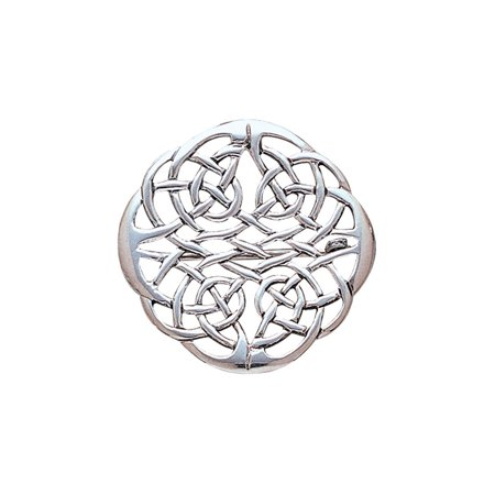 Jewelry Trends Sterling Silver Elegant Celtic Knotwork Brooch Pin