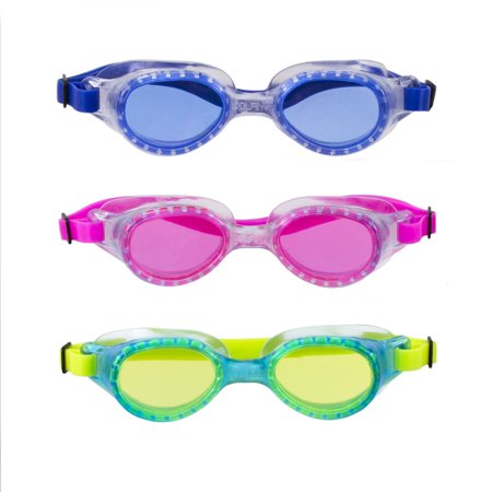 Youth 3 Pack Swim Goggle - Blue, Lime & Pink