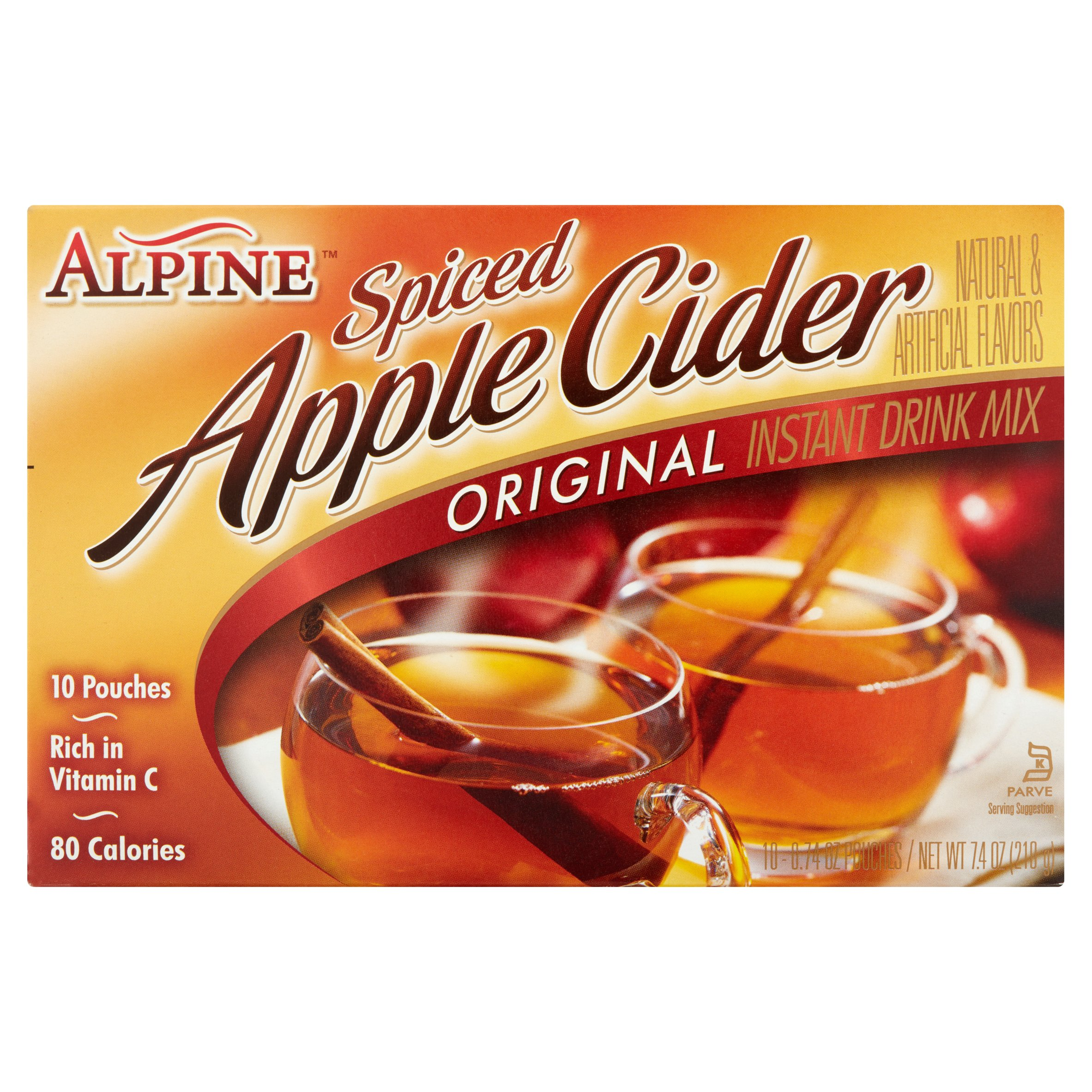 Alpine Original Spiced Apple Cider Instant Drink Mix, 10 Ct 7.4 Oz by Continental Mills
