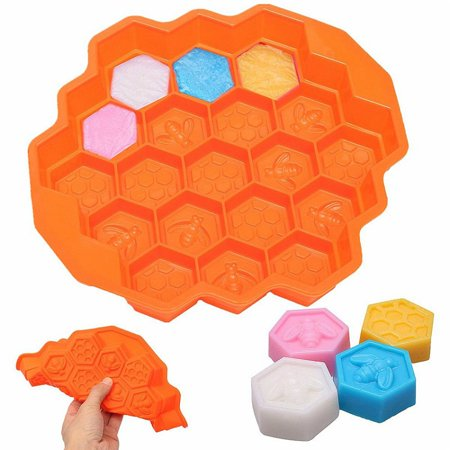 19 Cavities Honeycomb Cake Molds silicone Soap Making Molds Pull-Apart Dessert Pan Candy Baking Cake (Soap Making Mold)