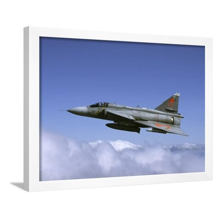 Saab JA 37 Viggen Fighter of the Swedish Air Force Framed Print Wall Art By Stocktrek