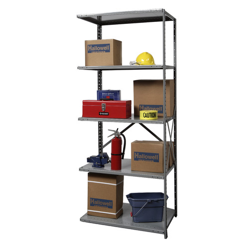 Hallowell Hi-Tech Heavy-Duty Open Type 4 Shelf Shelving Unit Add-on