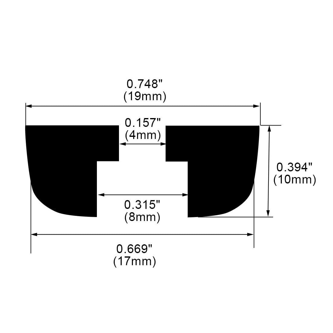 18pcs Rubber Feet Bumper for Amplifier Printer Cabinet Desk Leg, D19x17xH10mm - image 2 de 7