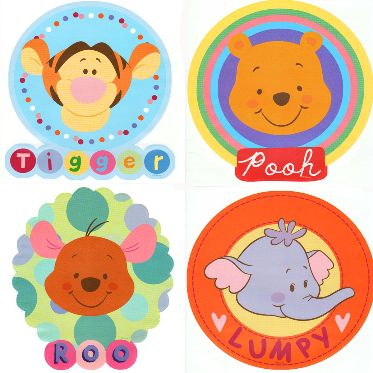 Disney Winnie Pooh Friends 38pc Wall Sticker Accent Kit