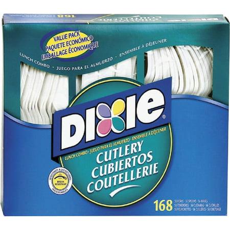 - Dixie, DXECM168, Heavy-duty Plastic Cutlery, 168 / Box, White