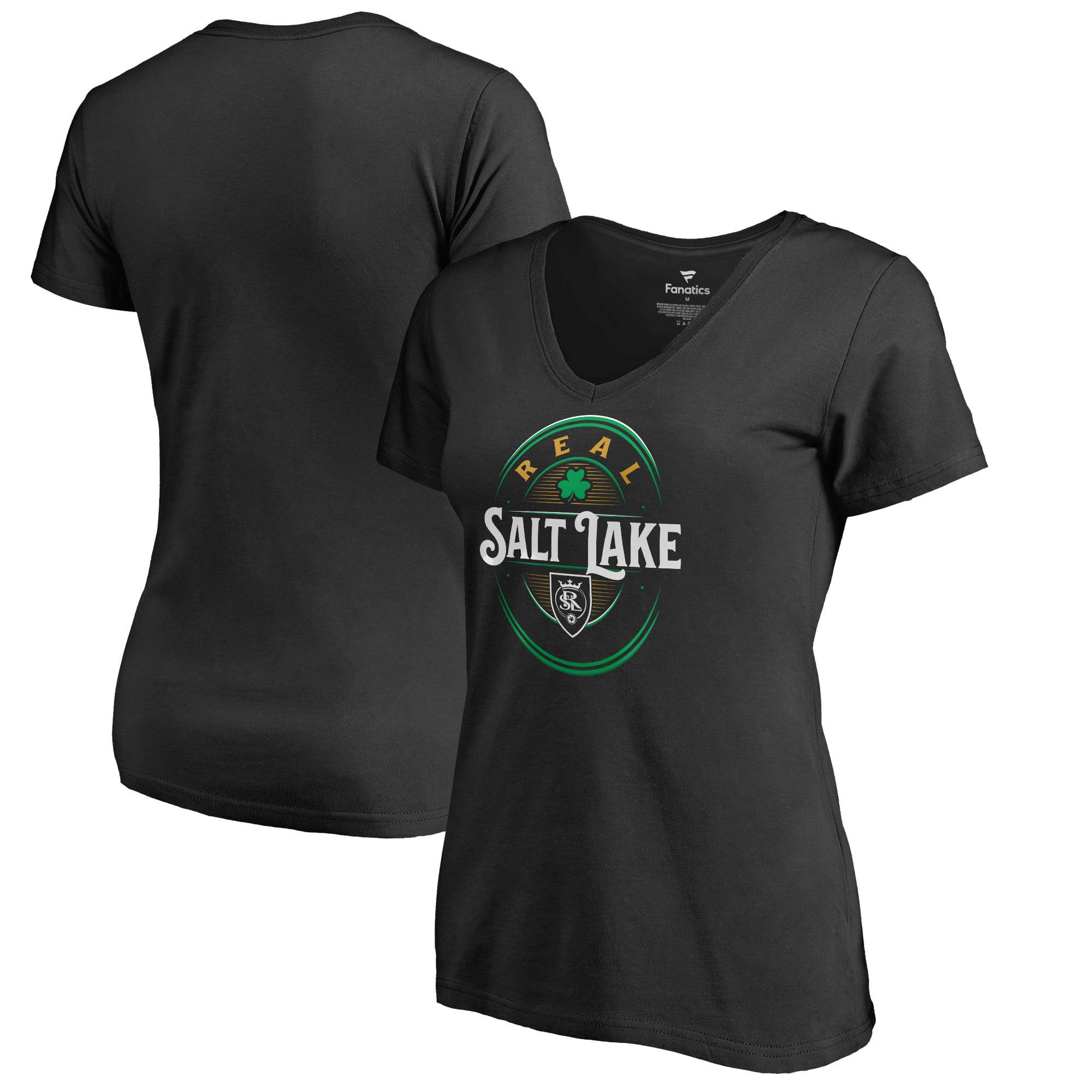 Real Salt Lake Fanatics Branded Women's Forever Lucky V-Neck T-Shirt - Black