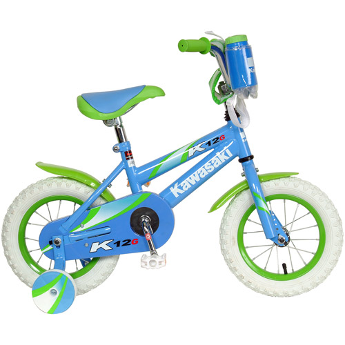 "12"" Kawasaki Kids' Bike with Training Wheels"